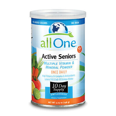 All One Zinc Vitamins - allOne Multiple Vitamin & Mineral Powder, For Active Seniors  |  10 Servings