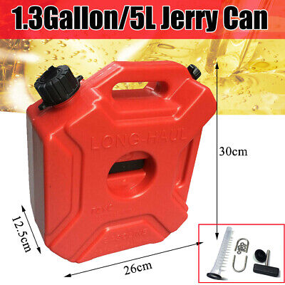 Portable Gas Jerry Can Plastic Fuel Tank Petrol 5l Motorcyclecar 302612.5cm