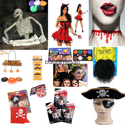 Halloween ALL Costume Fancy Dress Accessories Party Decorations Scary - Halloween Costume Party Decorations
