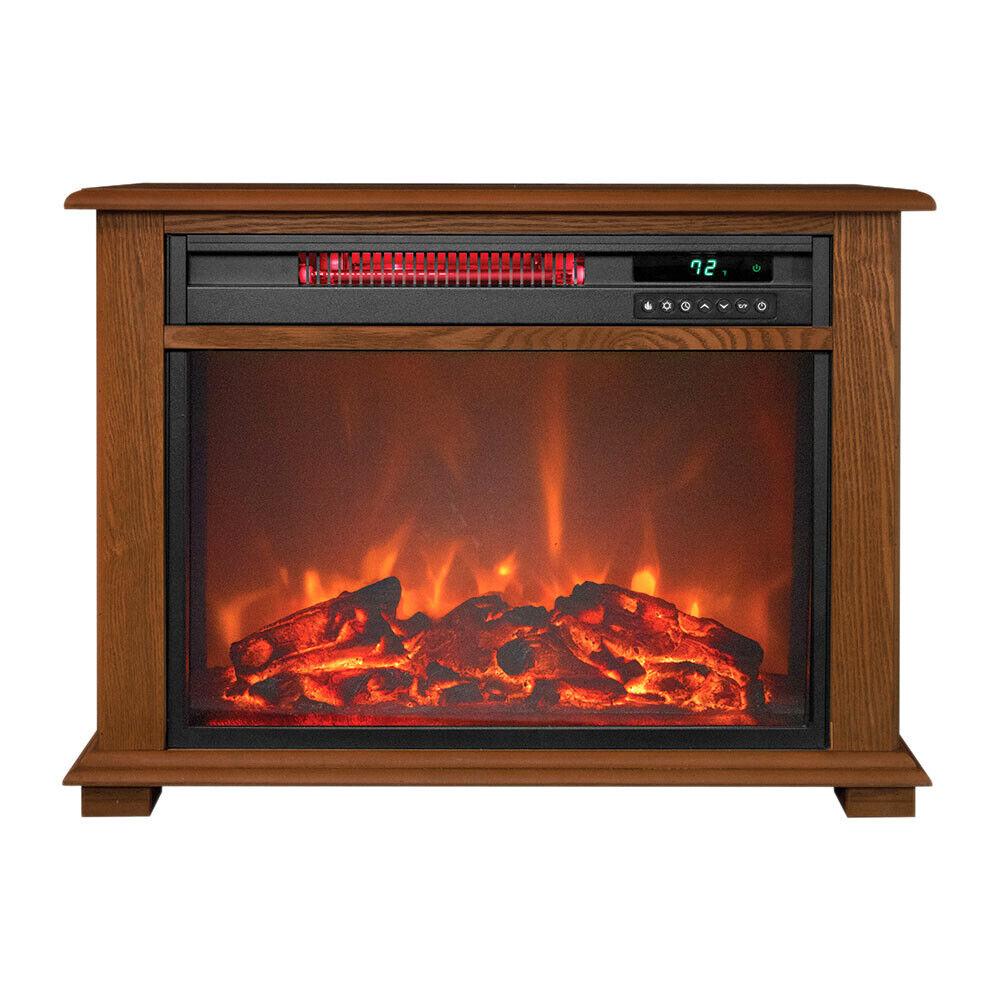 1500w infrared quartz electric fireplace heater w