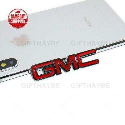 1x Mini GMC Logo Emblem Badge 3D fits Sport Car SUV Universal Black Red