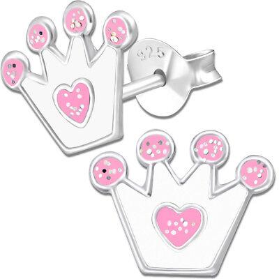 rone 925er Ohrstecker für Kinder Prinzessin 925 echt Silber (Prinzessin Ohrringe Für Kinder)