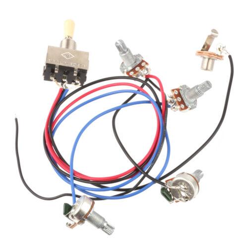 wiring harness 3 way toggle switch 2v2t 500k pots jack les paul lp guitar sg ebay. Black Bedroom Furniture Sets. Home Design Ideas