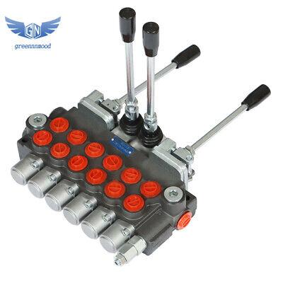 Hydraulic Backhoe Directional Control Valve W 2 Joysticks 6 Spool 11 Gpm