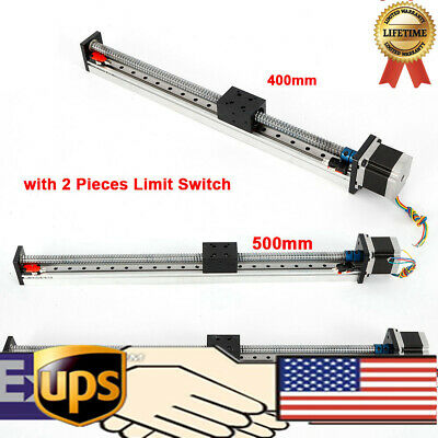 Axis Slide Stroke Long Stage Nema 23 Motor Cnc Linear Actuator Ball Screw Rod Us