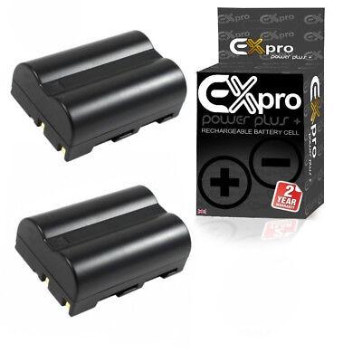 (Ex-Pro Li-Ion Battery for Nikon EN-EL3e Nikon D80 D70 D70s D100 D200 D300 2 PACK)