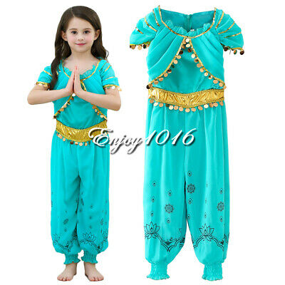 Girls Princess Costume For Jasmine Kids Christmas Halloween Party Dress Up ()