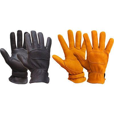 Lee Parks Design DeerTours Gloves Motorcycle Gloves - Black or Tan Tan Motorcycle Gloves