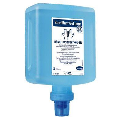 10 Stück Sterillium Gel pure Händedesinfektion 1L Überkopf-Flasche für Spender
