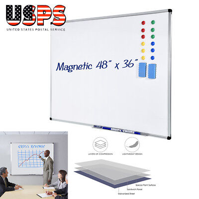 36 X 48 Magnetic Dry Erase Sign Whiteboard For Class Room School Office Us