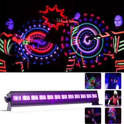 U`king 12 UV LED Schwarzlicht Bühnenbeleuchtung für party deko Konzert Pub Club