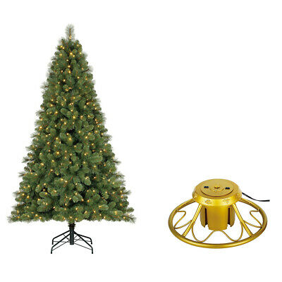 Home Heritage 7 Foot Artificial Cascade Pine Christmas Tree with Rotating Stand