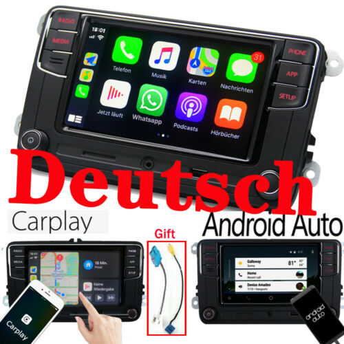 Autoradio RCD330,Carplay,Android Auto,BT,VW GOLF CADDY TIGUAN PASSAT EOS Deutsch