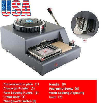 72 Letter Manual Embosser Machine Pvc Sample Gift Card Credit Id Vip Embossing
