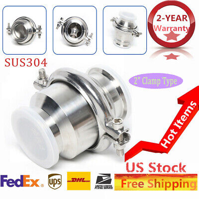 Sus304 2 Sanitary Stainless Steel Check Valve Single Direction Clamp Type Valve