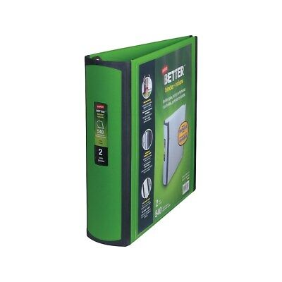 Staples Better 2-inch D 3-ring View Binder Green 19937 892169
