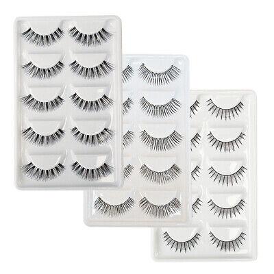15 Pairs False Eyelashes Makeup Natural Long Invisible Band Fake Eyelash (Eyelash Set)