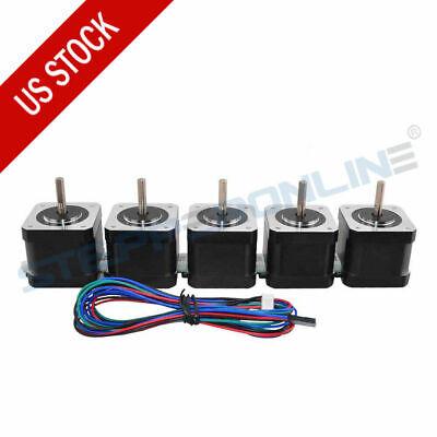 5pcs Nema 17 Stepper Motor 64oz.in 1.5a 4-wire 3d Printer Reprap Arduino Cnc Diy