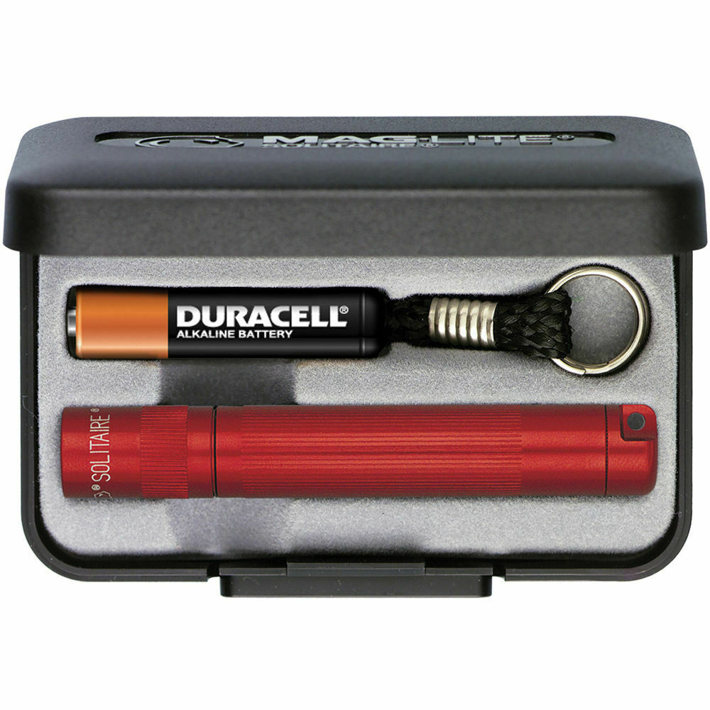 maglite solitaire incandescent flashlight spare bulb battery