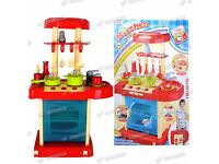Kids Electronic Pretend Play Kitchen Cooker Food Pan Set Cooking Toy Playset New