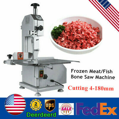 Food Processing Commercial Meat Bone Saw Butcher Bandsaw 650w Cutting 4-180mm