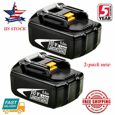 2X NEW 18V 6.0Ah LITHIUM ION BATTERY LXT FOR MAKITA BL1860 BL1830 US LATEST -