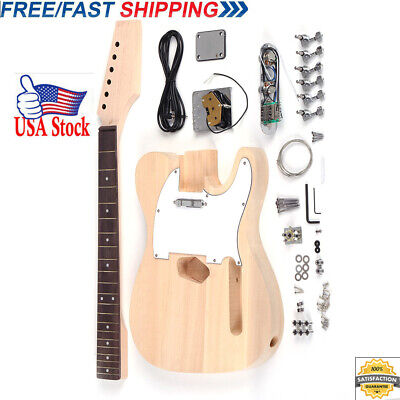 One Pc Mahogany Body W//HUM Electric Guitar Kit flame maple top by CNC 2-3cm