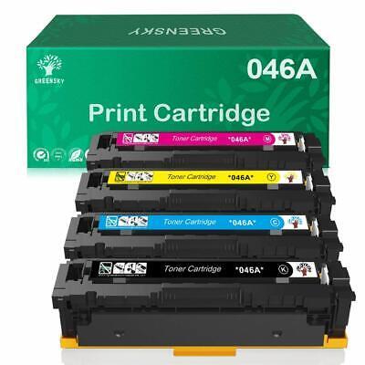 4PK 046 Laser Toner Cartridges for Canon imageCLASS MF733Cdw LBP-654Cdw Printers 002 Yellow Laser Toner Cartridge