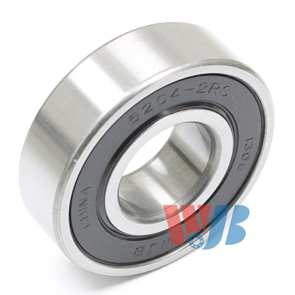 2 Pcs Premium 6204 2RS ABEC3 Rubber Sealed Deep Groove Ball Bearing 20x47x14mm