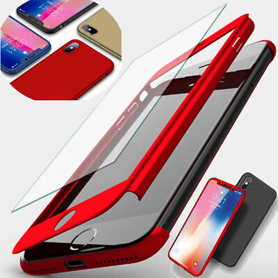 360° Full Cover Hybrid Case + Screen Protector For iPhone XS Max XR X 8 7 6Plus