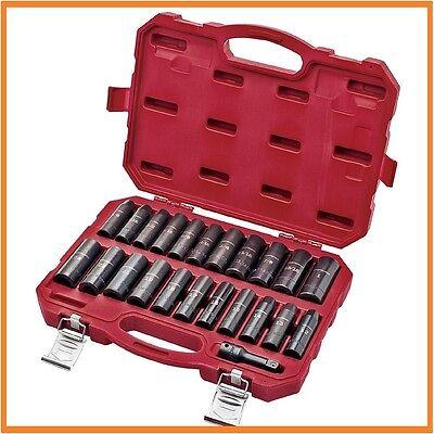 "Craftsman 23 Pc piece Laser Impact Deep Socket Set, 1/2"" Drive Inch/Metric"