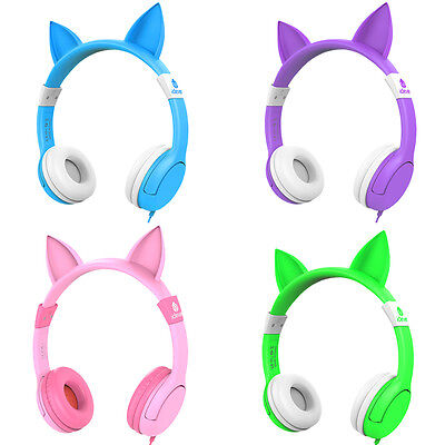 Iclever Boostcare Kids Headphones Wired Over Ear Headphones With Cat Ears 85Db
