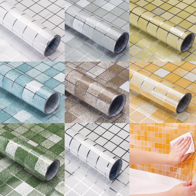 Home Decoration - Self Adhesive Wallpaper Waterproof Scrub Mosaic Kitchen Wall Tile Stickers