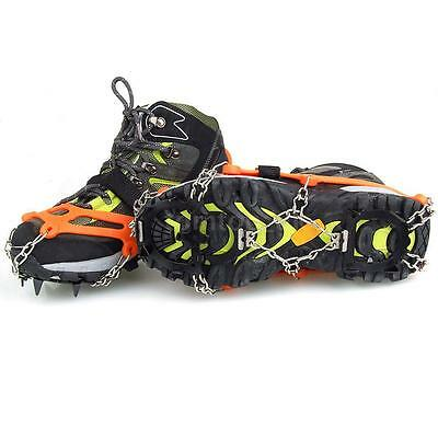 1 Pair 12 Teeth Claws Crampons Non-slip Shoes Cover Ski Ice Snow Climbing H1K9