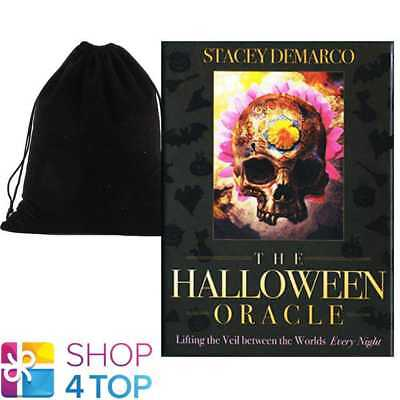 THE HALLOWEEN ORACLE DECK CARDS STACEY DEMARCO ESOTERIC BLUE ANGEL VELVET BAG](The Halloween Oracle)