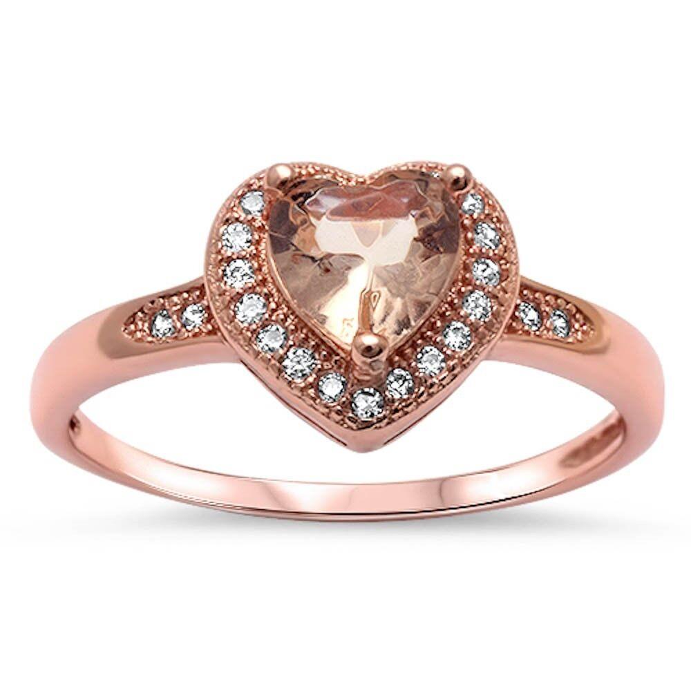 morganite cz promise engagement 925 sterling