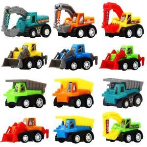 Pull Back Car 12 Pcs Mini Truck Toy Kit Set Funcorn Toys Play Construction