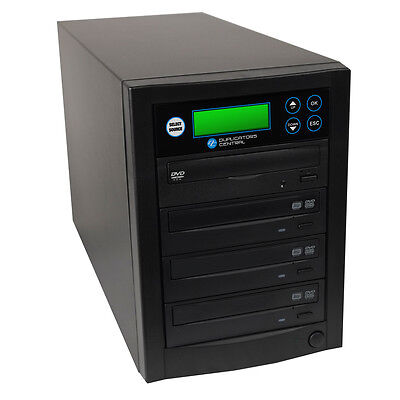 1-3 Target Multiple DVD/CD Disc Copies Burners Duplicator System with 24x Writer