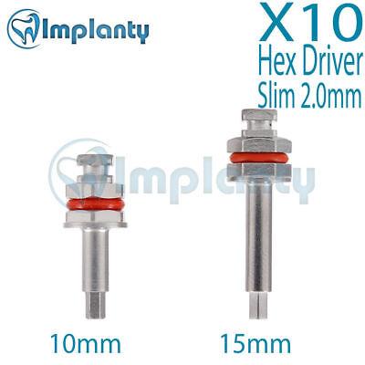 10x Hex Driver Slim 2.0mm Dental Implant Fit Ab Alpha Bio Mis Zimmer Adin