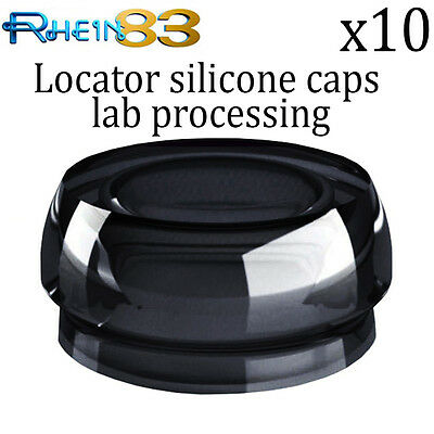 10x Rs Dental Implant Locator Silicone Flat Lab Processing Caps