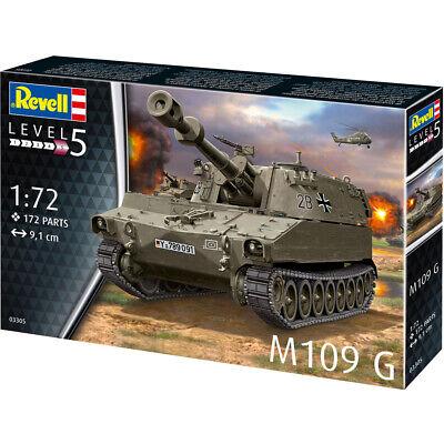 Revell M109 G German Self-Propelled Howitzer Model Kit Scale 1:72 03305