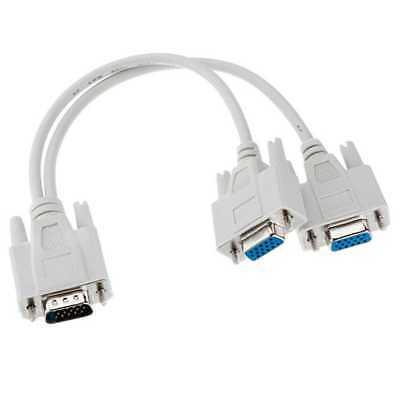 Duplicador Cable VGA SVGA HDB15 macho a dos VGA Hembra Splitter Monitor...