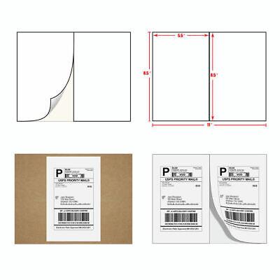 100 500 1000 Shipping Label 8.5x5.5 Ebay Paypal Label Self Adhesive 2 Per Sheet