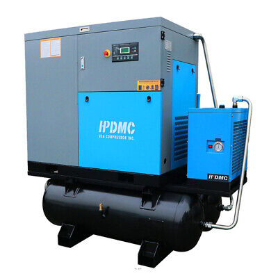 Dual Voltage230v460v 30hp Rotary Screw Air Compressor With Two 120gallon Tanks