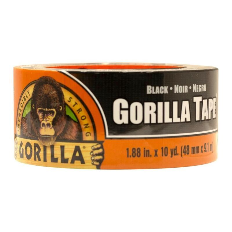 "Black Gorilla Tape 1.88"" x 10 yard / Read Shipping Info Please"