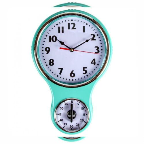 Lily'S Home Retro Kitchen Timer Wall Clock, Bell Shape Red.