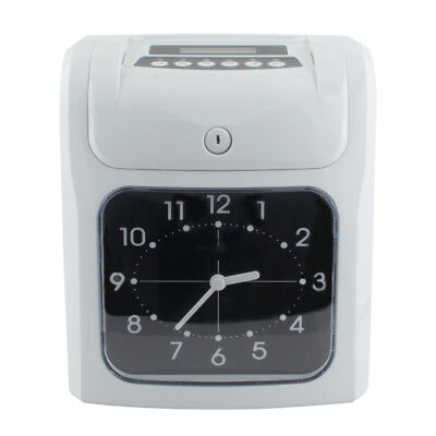 Safty Use Electronic Employee Analogue Time Recorder Clock Card Monthlyweekly