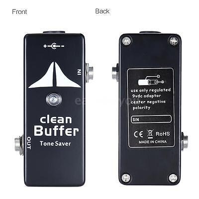 Mini Clean Buffer Guitar Effect Pedal Tone Saver Zinc-aluminium Alloy Body Hot