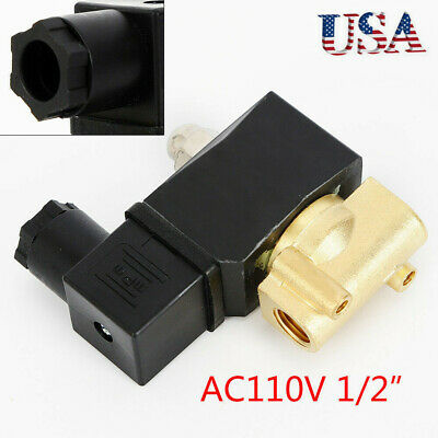 Ac110v Npt Electric Solenoid Valve Industrial Grade Brass For Water Air Gas Usa