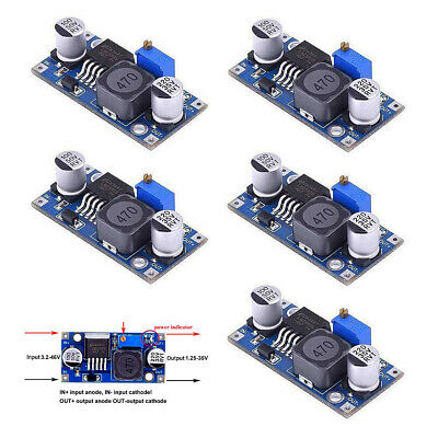 5pcs Lm2596s Dc-dc Power Supply Buck Converter Adjustable Step Down 3a Module